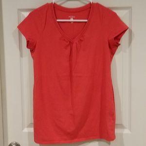 Maternity v-neck t-shirt, tomato red, small